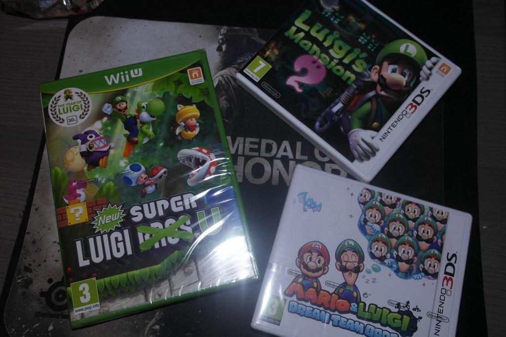 Noen av Luigi titlene fra i år.